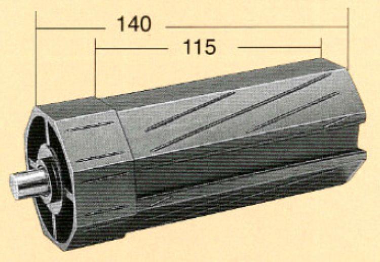 Rollex Rollladenkapsel lang 10600 Kapsel 60 mm 8-kant, Länge 140 mm