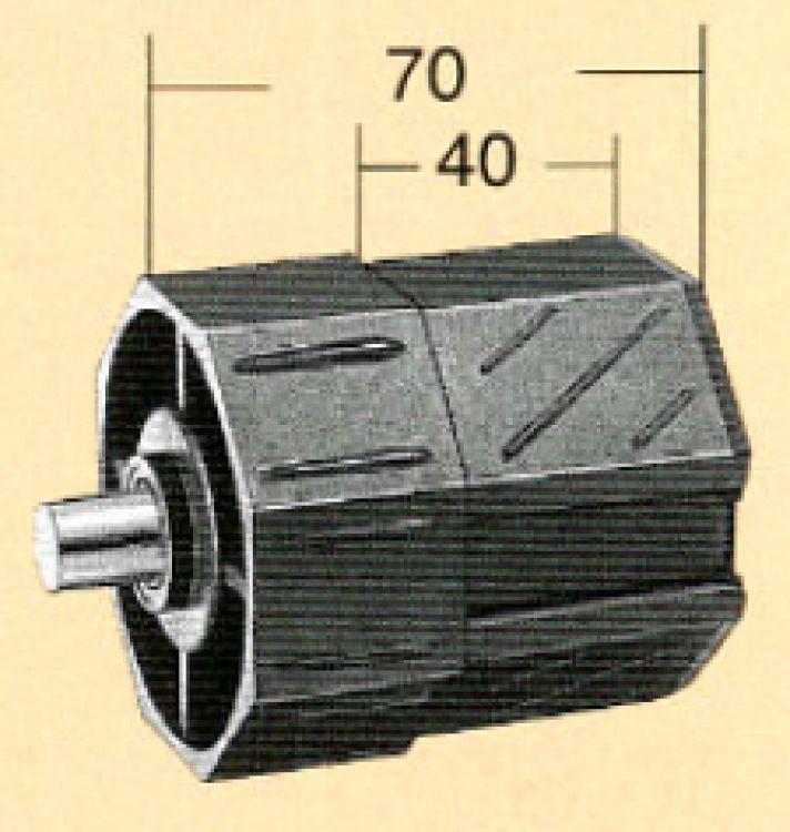 Rollex Rollladenkapsel mittel 10590 Kapsel 60 mm 8-kant, Länge 70 mm